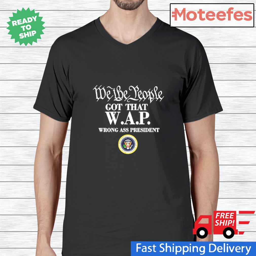 We The People Got That WAP Mens Short Sleeve New Cotton Black T-shirt