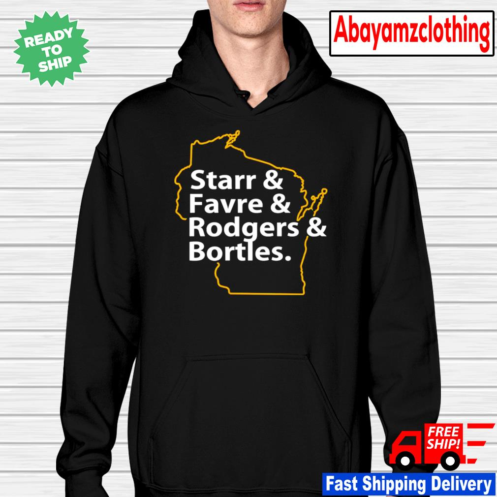 Starr and favre and rodgers and bortles hoodie